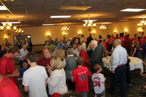 Packed room at the meet-and-greet